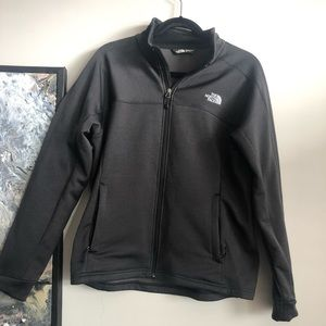 The North Face shell in dark gray
